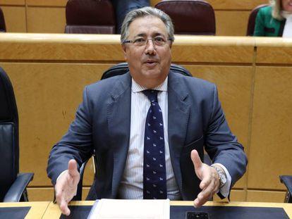 El Ministro del Interior, Juan Ignacio Zoido, en el Senado la pasada semana.