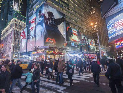 Anuncio de 'Superman versus Batman, el amanecer de la justicia', en Nueva York en marzo de 2016.