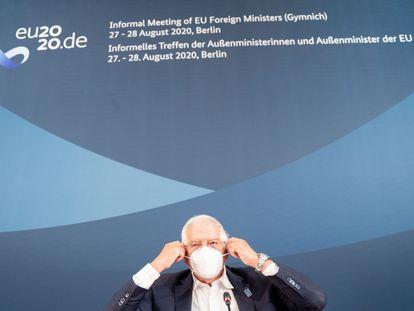 El jefe de la diplomacia europea, Josep Borrell, el pasado mes de agosto en Berlín.