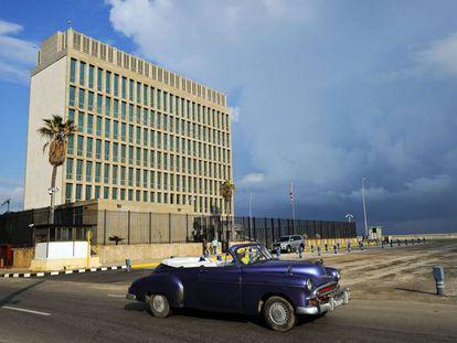 La embajada de EE UU en La Habana.