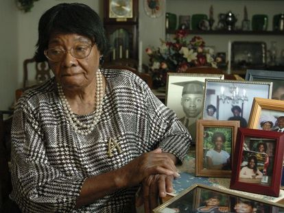 Addie Lee Anderson, una de las víctimas de las esterilizaciones, en Carolina del Norte