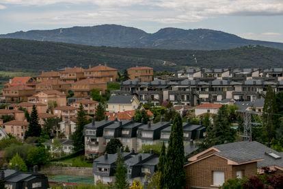 Viviendas en Manzanares el Real, en la Comunidad de Madrid.