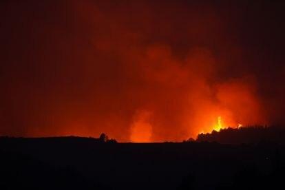 Un incendio en Giarratana (Sicilia), el pasado miércoles.