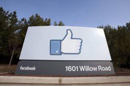 Detalle de la nueva sede de la red social Facebook en Menlo Park, California (EEUU). EFE/Archivo