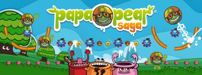 Papa Pear Saga, primer juego de King.com hecho en España.