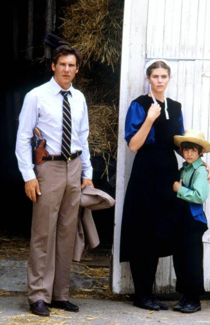 Con Harrison Ford y Lukas Haas en 'Único testigo', su primer gran papel y que le valió unas críticas entusiastas en 1985.