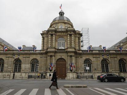 La sede del Senado francés, juntó al Jardín de Luxemburgo, en París.