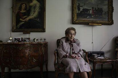 Irene Bergman, en su apartamento de Nueva York