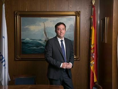 Ricardo Domínguez, presidente de Navantia, en su despacho.