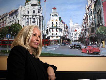 La psicóloga Carmen Sanz, directora de la fundación El Mundo del Superdotado, en su oficina de Madrid.