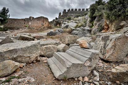 Una zona del castillo romano.