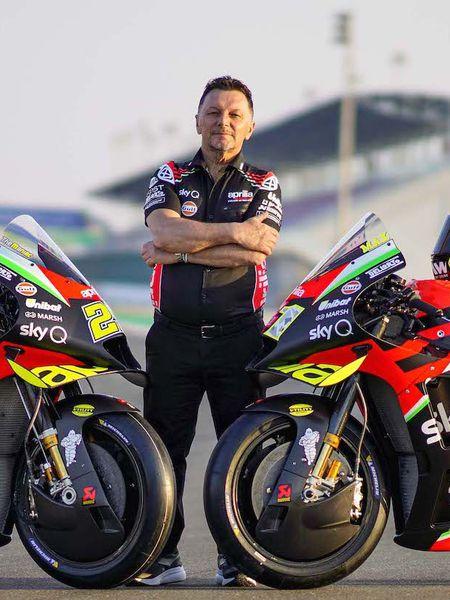 Fausto Gresini, director del equipo Aprilia de MotoGP.