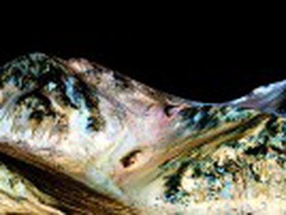 Un estudio presenta indicios de cursos de agua salada en el sur del planeta rojo