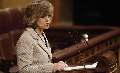 La ministra de Sanidad, María Luis Carcedo, ayer en el Congreso.