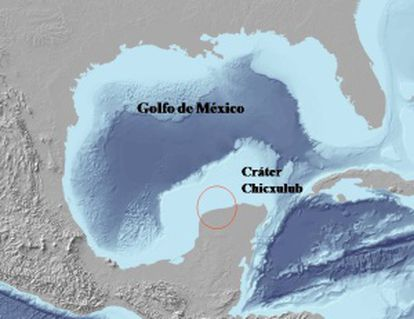 Localización geográfica del cráter.
