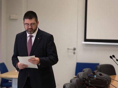 Carlos Sánchez Mato, durante la comisión de Hacienda del pasado lunes.