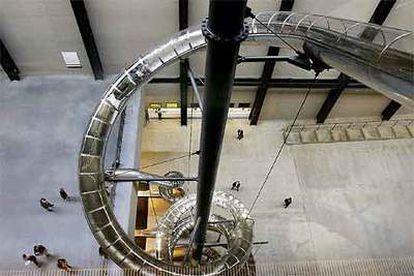 La intalación de Carsten Holler en la Tate Modern de Londres.