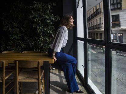 Sandra Barneda, en una cafeteria del centro de Madrid.