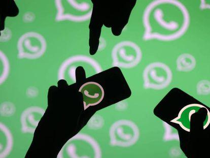 Ilustración de la aplicación de móvil WhatsApp.