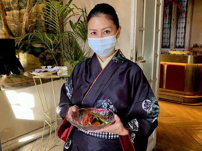 La cocinera japonesa Yoko Hasei, en el espacio Leblanc.