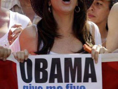 Mariela Castro durante una manifestación en mayo de 2012.