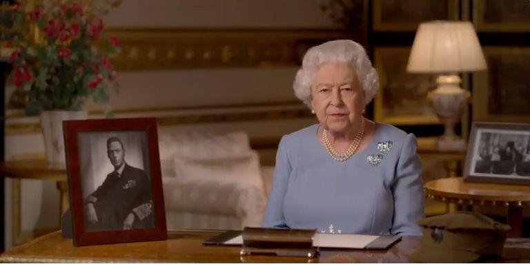 La reina Isabel II se dirige a la nación con motivo del 75 aniversario del fin de la II Guerra Mundial.  TWITTER @ROYALFAMILY 09/05/2020