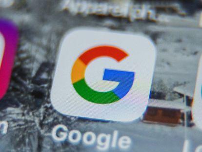Logo de Google en una tableta.