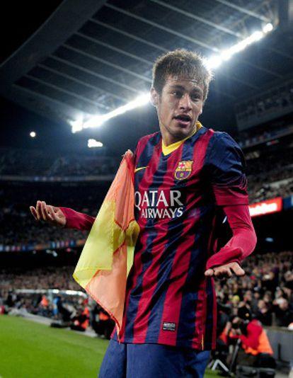 Neymar, durante un partido en el Camp Nou.