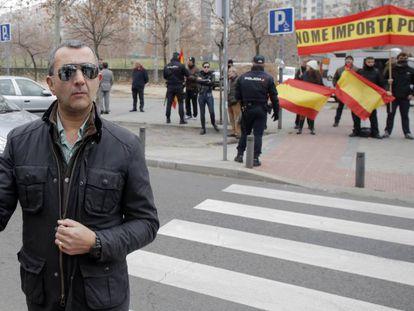 El jefe nacional de Falange, Manuel Andrino, en Madrid en 2016.