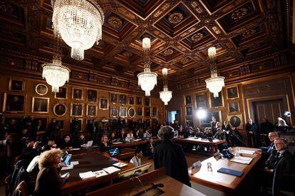 Una imagen del Cómite del Nobel en Estocolmo.