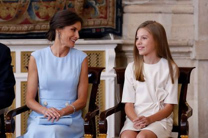 La reina Letizia y la infanta Sofía.