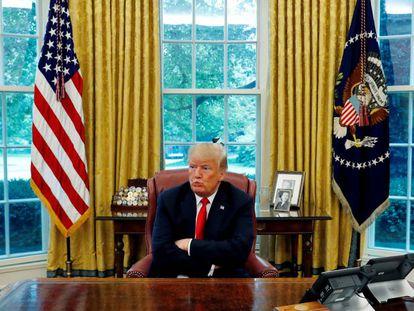 Donald Trump, el pasado lunes en la Casa Blanca.