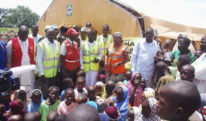 Un campo de refugiados internos, gestionado por el Gobierno, en Wurojuli, Estado de Gombe, el 1 de septiembre