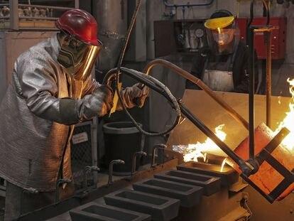 Fábrica rusa de procesado de oro, paladio, platino y rodio.