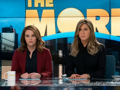 Reese Witherspoon y Jennifer Aniston, en 'The Morning Show'.