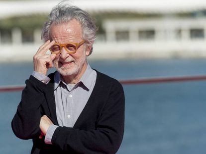 Fernando Colomo, antes de la rueda de prensa de su película 'Antes de la quema', el domingo en Málaga.