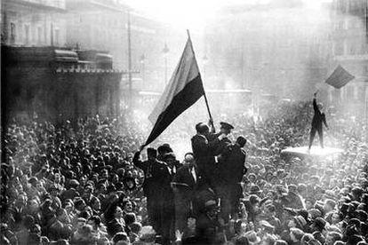 Proclamación de la II República en Madrid el 14 de abril de 1931.