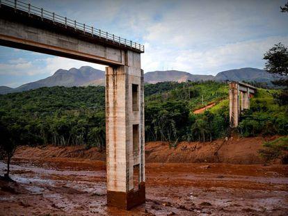Vista del desastre causado por la rotura de una represa en Brumadinho (Brasil).