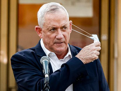 El líder centrista y ministro de Defensa israelí, Benny Gantz, en un acto en septiembre.