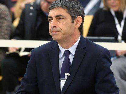 El 'major' de los Mossos, Josep Lluís Trapero, en el juicio por su actuación durante el procés. En vídeo, fragmento del segundo día de declaración.