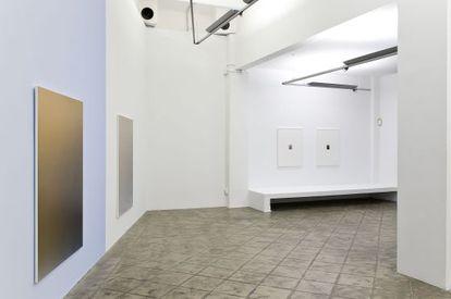 Algunes de les pintures de Pieter Vermmeersch que s'exposen a la sala ProjectSD.
