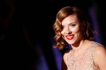 La actriz Scarlett Johansson, el domingo en la semana de la Moda de Milán.
