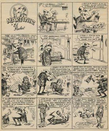 Primera historieta de Martínez El Facha, el 27 de mayo de 1977.