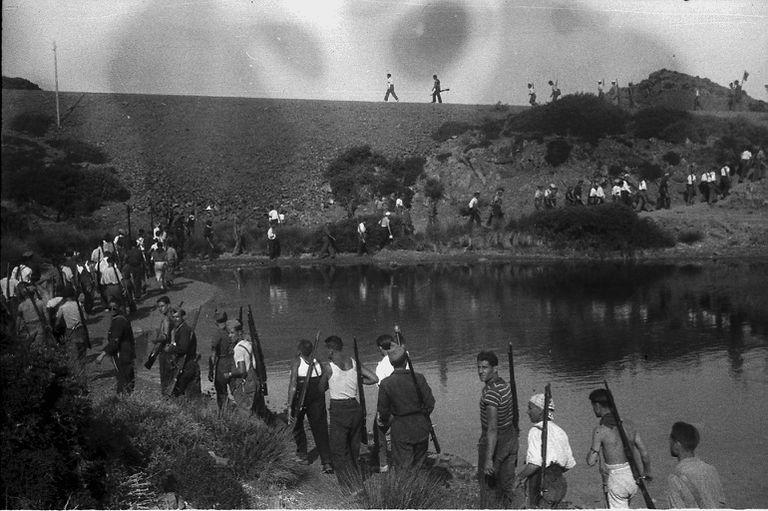 Imagen del desembarco republicano en Mallorca.