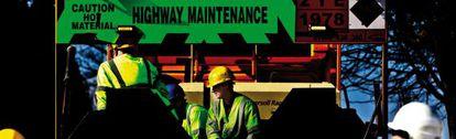 Trabajos de mantenimiento de la red de carreteras en Birmingham.
