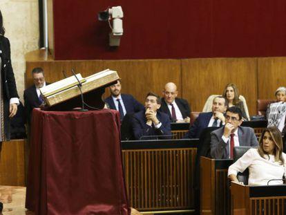 Marta Bosquet, de Ciudadanos, nueva presidenta del Parlamento andaluz. En vídeo, el discurso de Bosquet. A. RUESGA / VÍDEO: Atlas