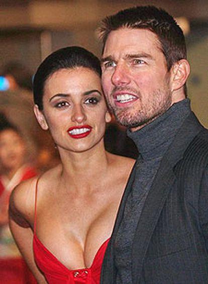 Penélope Cruz y Tom Cruise, en el estreno en Londres de 'El último samurái', en 2004.