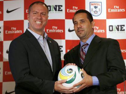 Los entrenadores del New York Cosmos y de la selección de Cuba