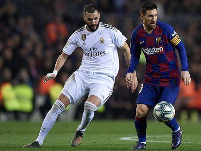 Messi y Benzema, en el clásico de esta temporada en el Camp Nou.