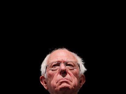 Bernie Sanders, durante un acto público.